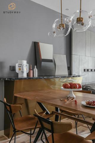 89㎡混搭两居室装修餐桌椅设计
