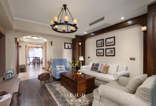 美式乡村风格三居客厅每日首存送20