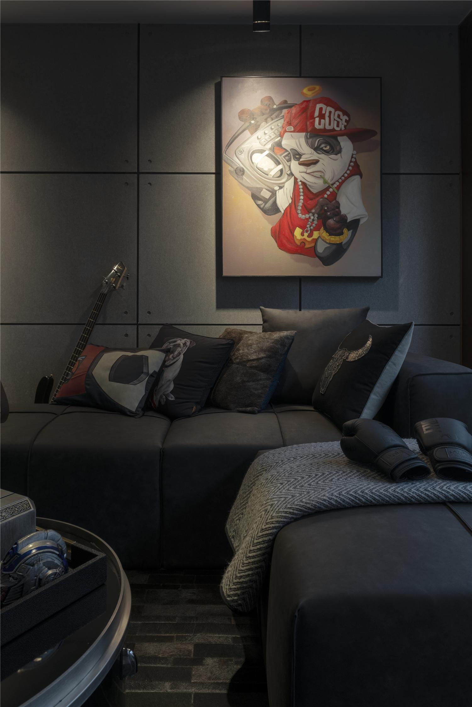LOFT一居室装修客厅沙发设计