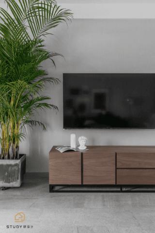 130㎡混搭风格装修电视柜设计