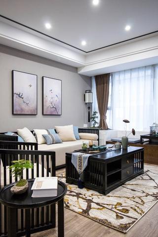 105平新中式风格客厅装修效果图
