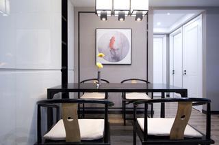 105平新中式风格餐厅装修效果图