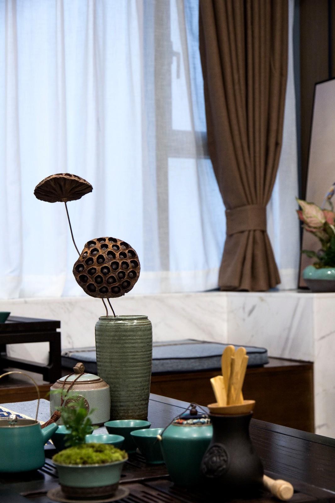 105平新中式风格装修客厅小景
