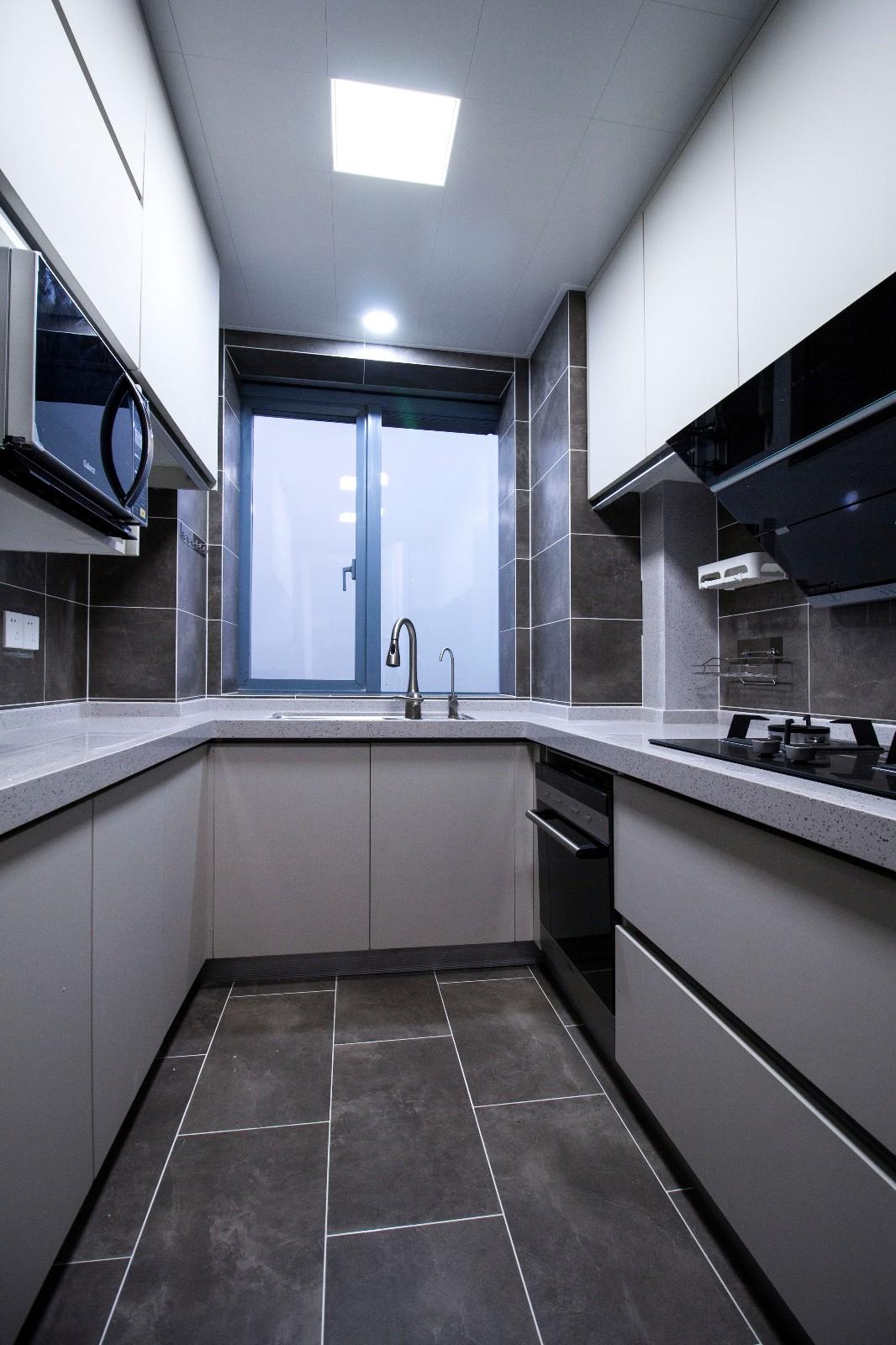 105平新中式风格装修厨房效果图