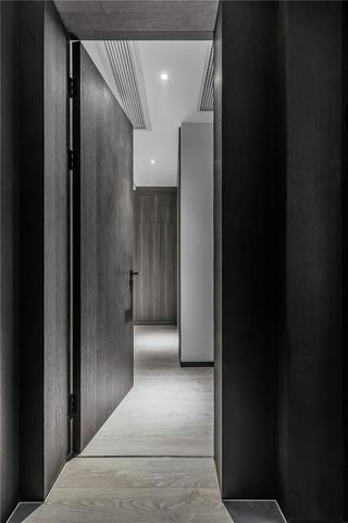 140㎡黑白灰现代装修过道设计