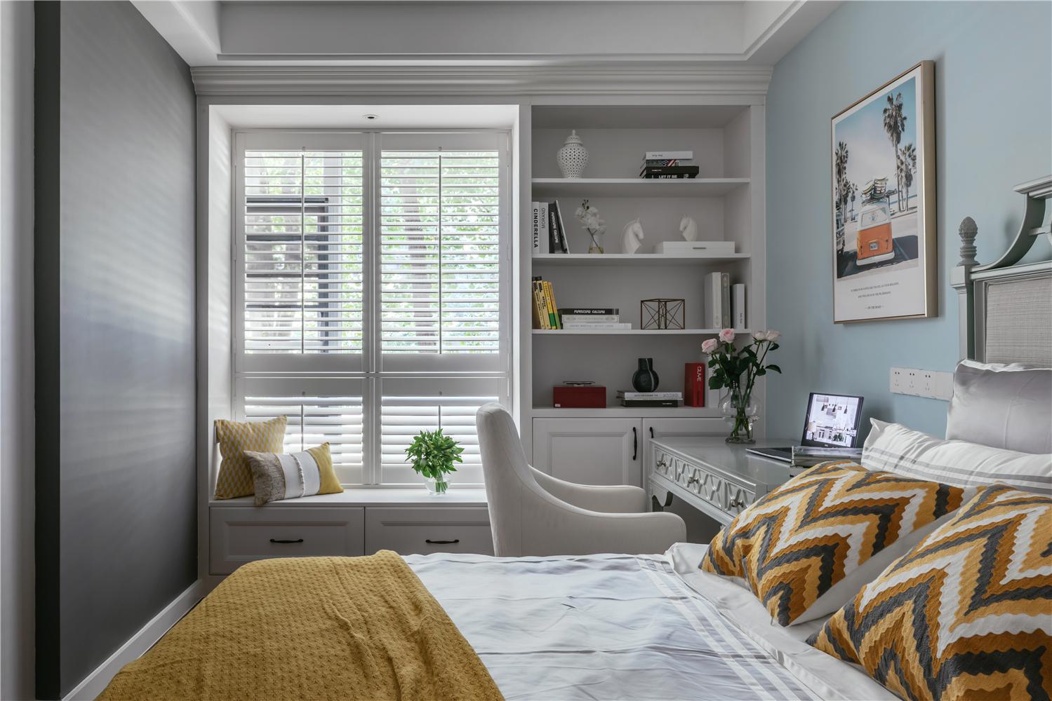 120㎡美式风格卧室装修效果图