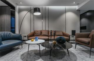150㎡现代简约沙发背景墙装修效果图