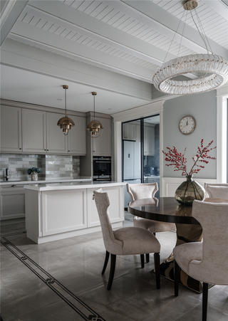 美式別墅廚房裝修效果圖