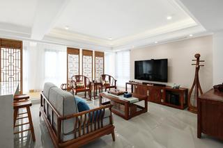 简约中式风别墅客厅装修效果图