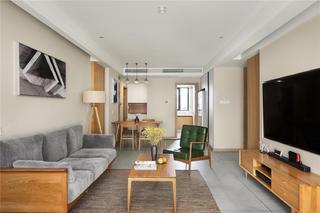 140平日式风格客厅装修效果图