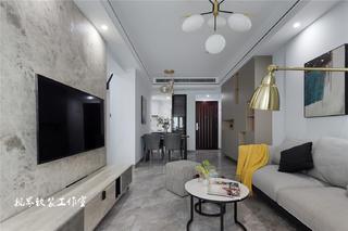 89㎡现代简约三居客厅装修效果图