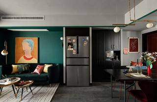 75平米三居室客餐厅装修效果图