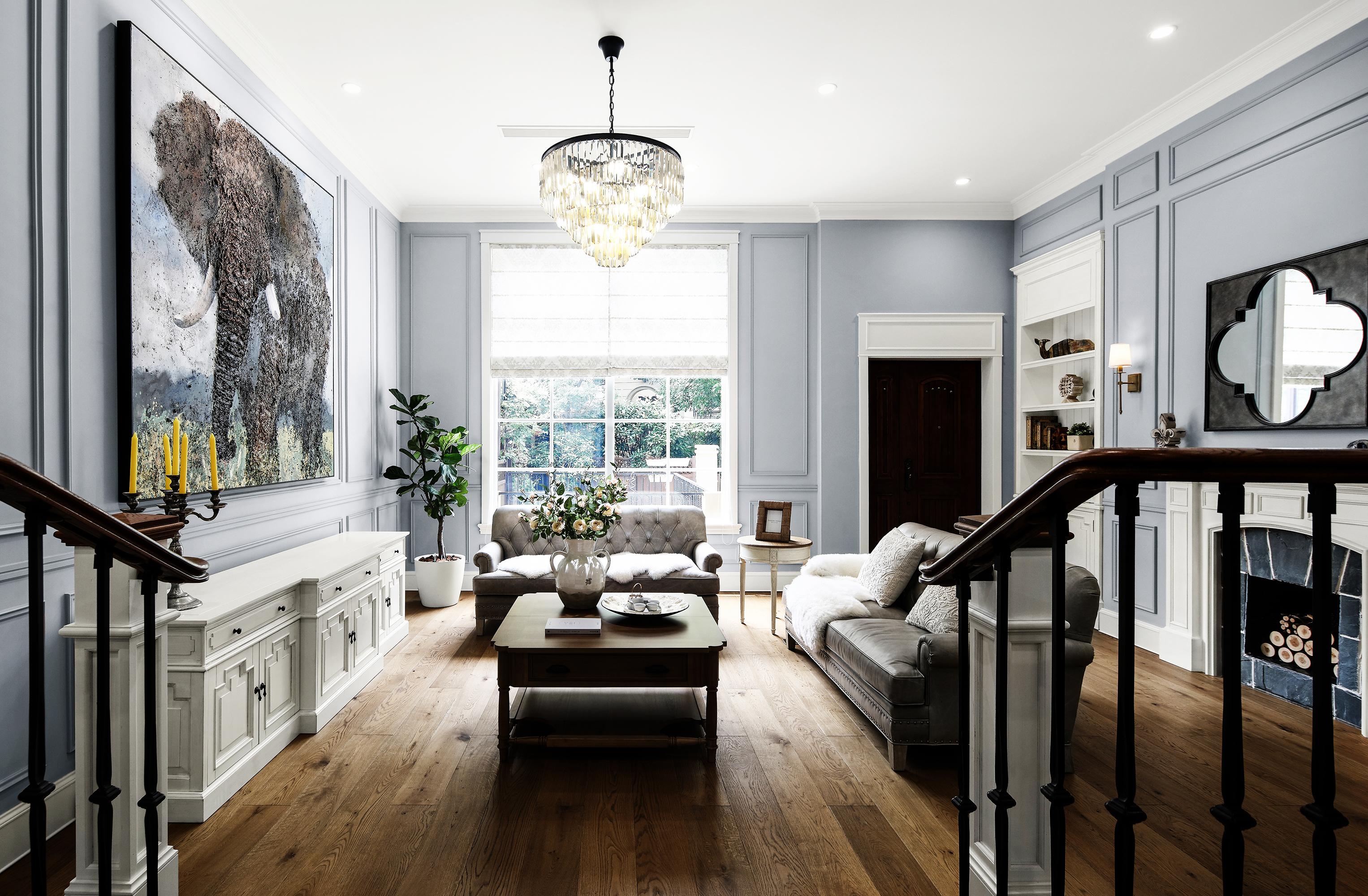 简美风格别墅客厅装修效果图