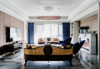 新古典風格別墅客廳裝修效果圖