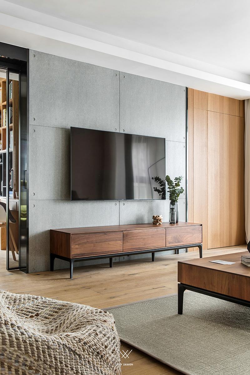 休闲台式风三居电视背景墙装修效果图