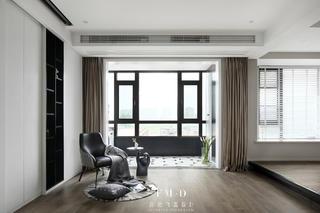 108㎡现代简约二居客厅装修效果图
