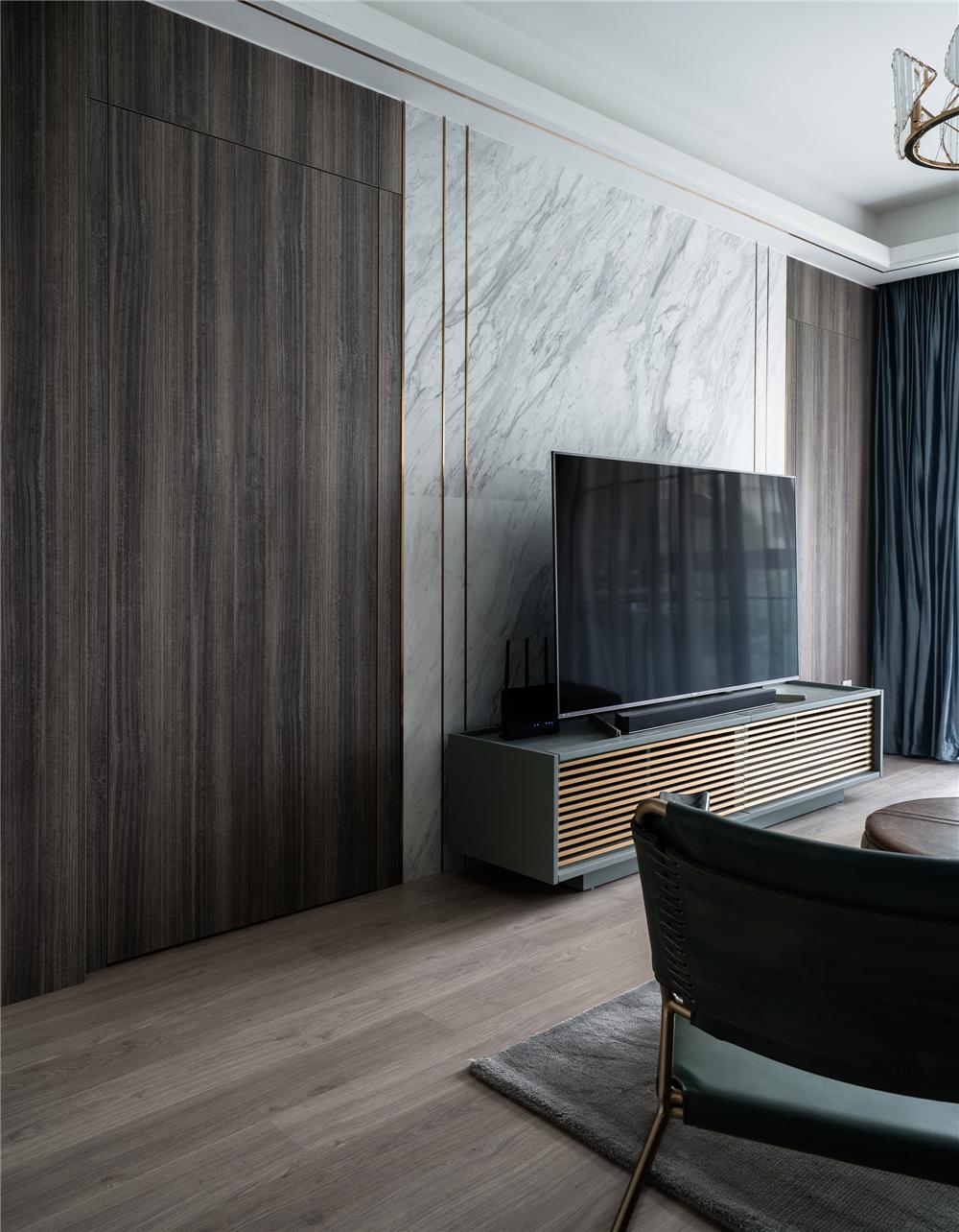 110平米二居室电视背景墙装修效果图