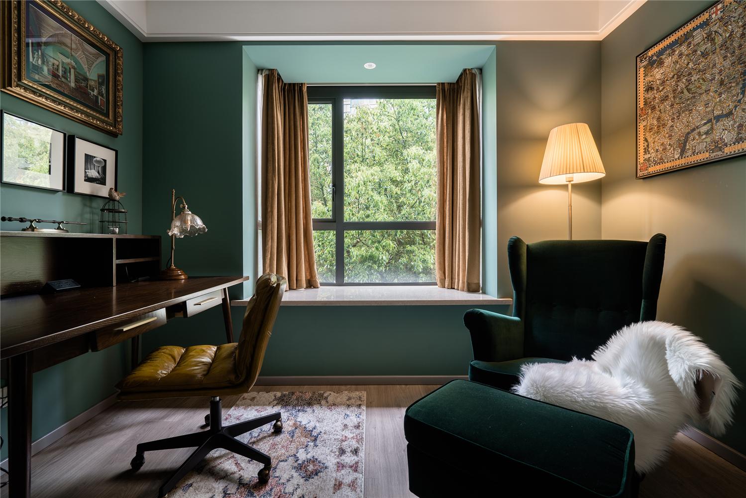 110平米二居室书房装修效果图