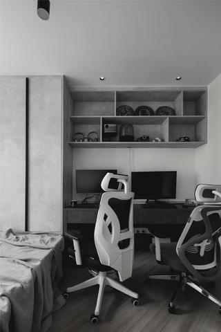 100平现代简约书房装修效果图