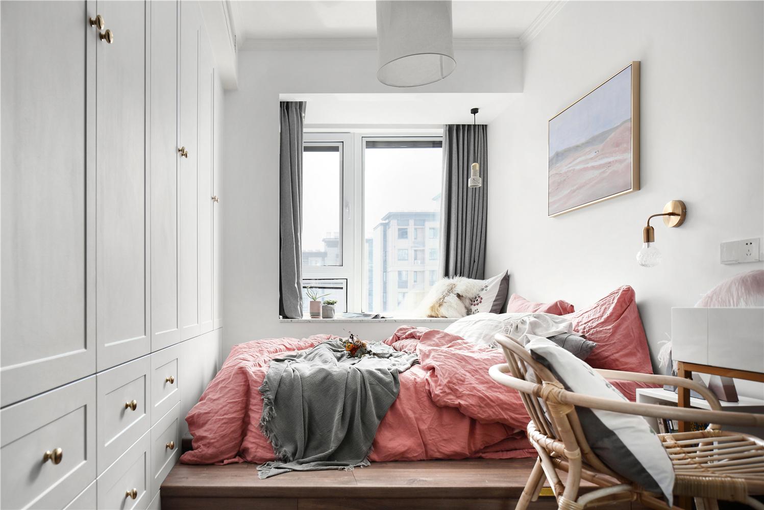 北欧风两居卧室装修效果图