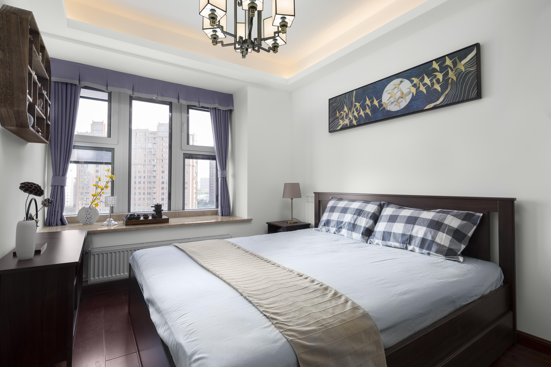 90㎡新中式卧室装修效果图