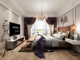 时尚轻奢两居卧室装修效果图