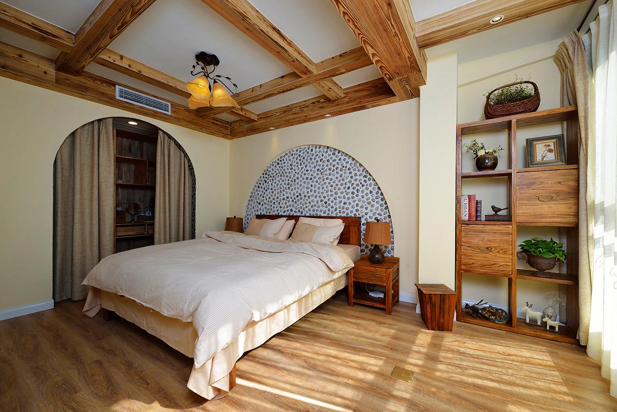 美式乡村两居卧室装修效果图
