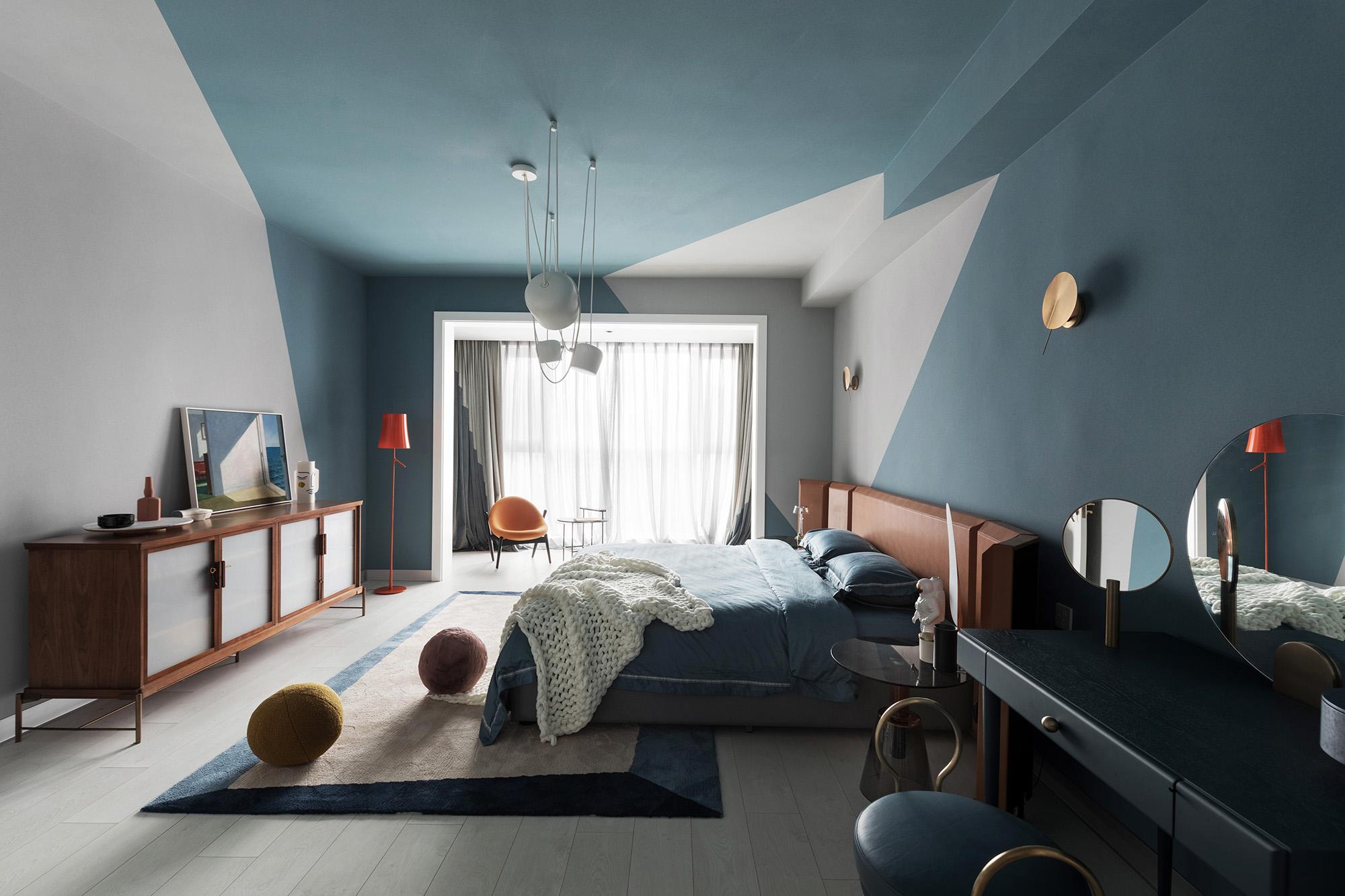 复式混搭风卧室装修效果图