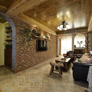 美式乡村两居室装修效果图