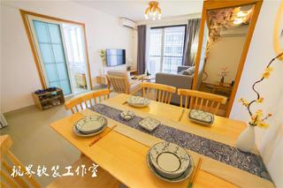 日式风三居装修餐桌设计图