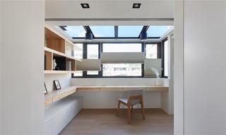 复式现代风书房装修效果图