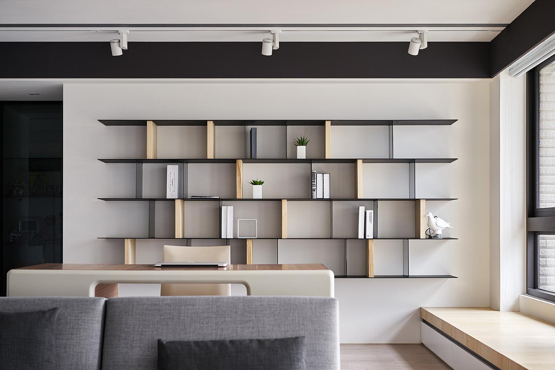 132平现代风开放式书房装修效果图