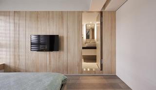 132平现代风木饰电视墙装修效果图