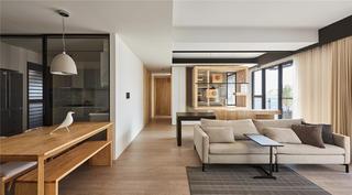 150㎡现代风格客厅过道装修效果图