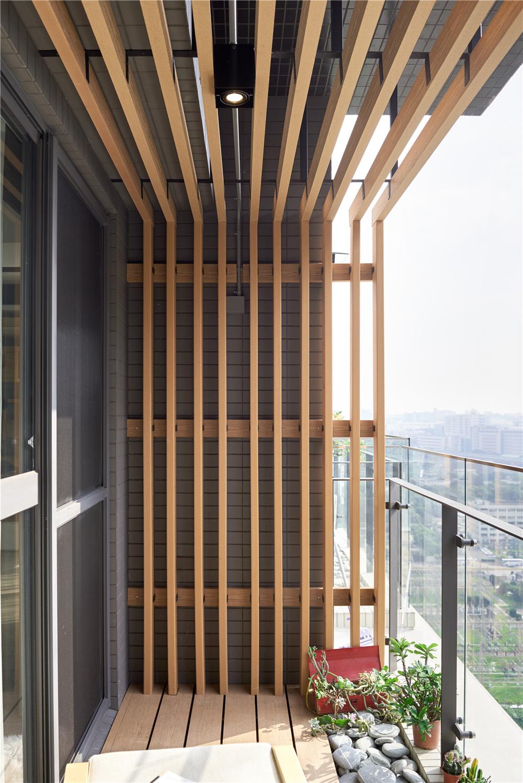 150㎡现代风格阳台装修效果图