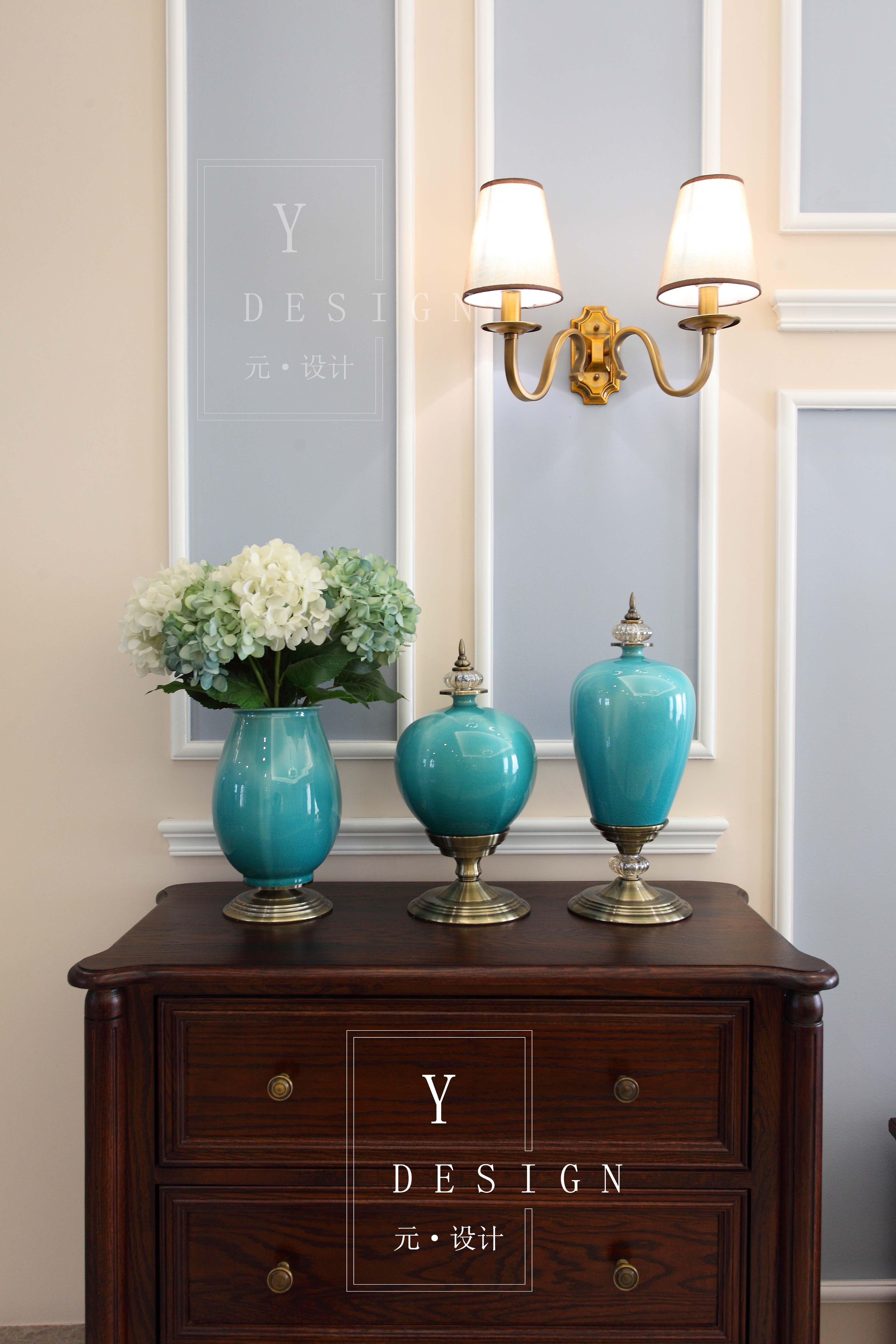 美式风格四居装修客厅装饰小景