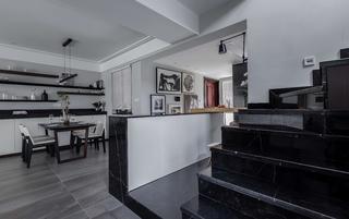 现代风格四居装修餐厅吧台设计