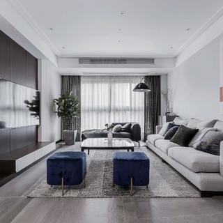 复式现代风格四居装修效果图