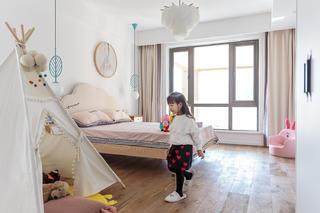 复式木质简约风儿童房装修效果图