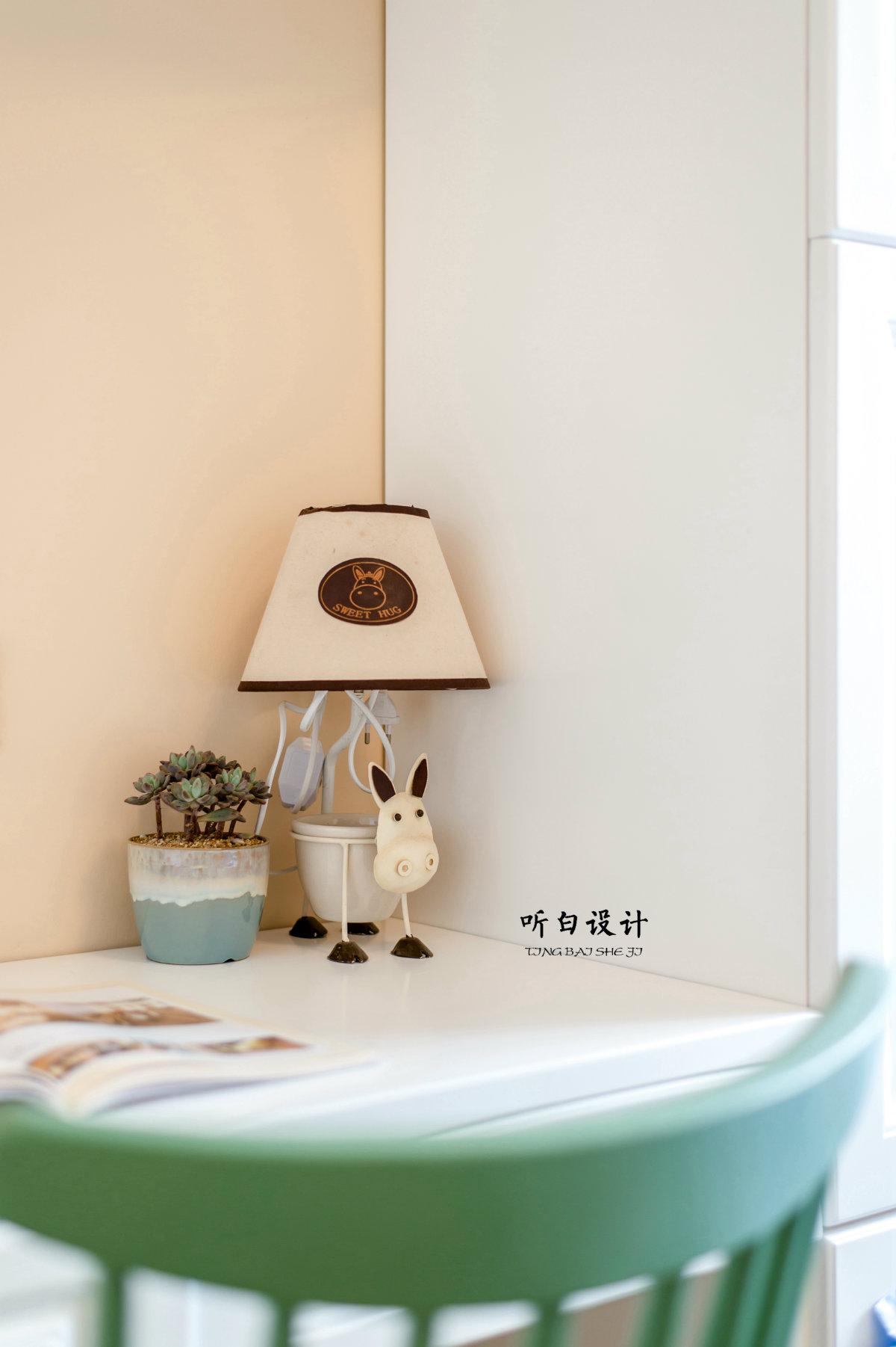 126㎡美式三居装修卡通台灯设计