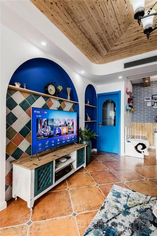 地中海三居电视背景墙装修效果图