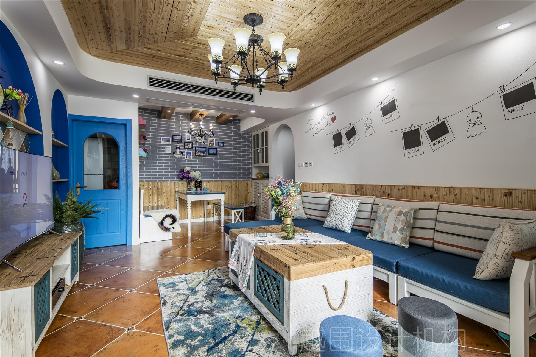地中海三居客厅装修效果图
