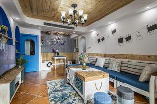 地中海三居客厅每日首存送20