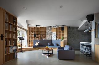 77平米三居室客厅装修效果图