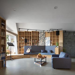 77平米三居室装修效果图