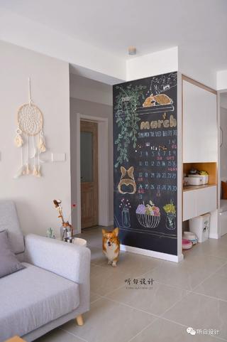日式北欧三居装修黑板墙设计