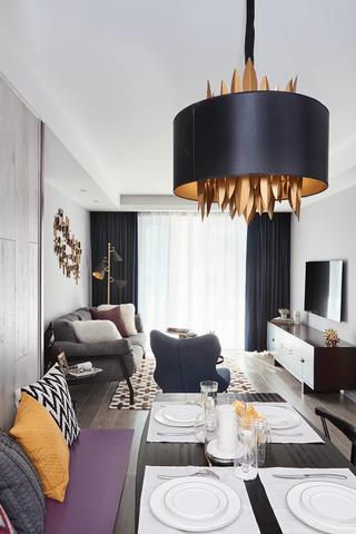 混搭风格三居装修餐厅吊灯设计