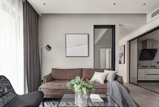 98平现代简约沙发背景墙装修效果图