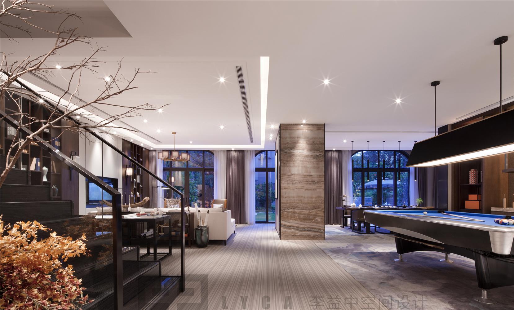 现代中式别墅家庭厅装修效果图