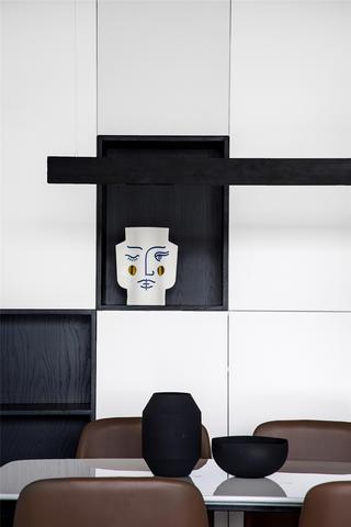 89㎡简约现代风装修餐边柜设计